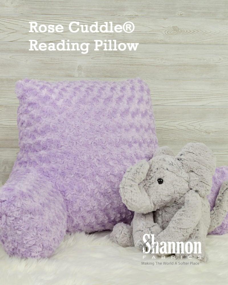 Rose Cuddle reading pillow makes me sleepy
