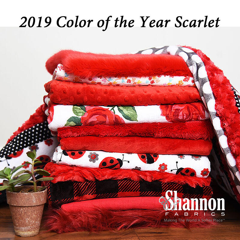 Scarlet fabrics From Shannon Fabrics