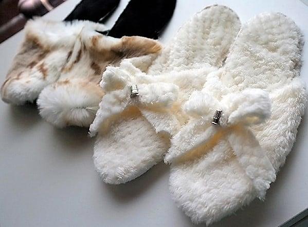 DIY Faux Fur Slippers Pattern & Tutorial