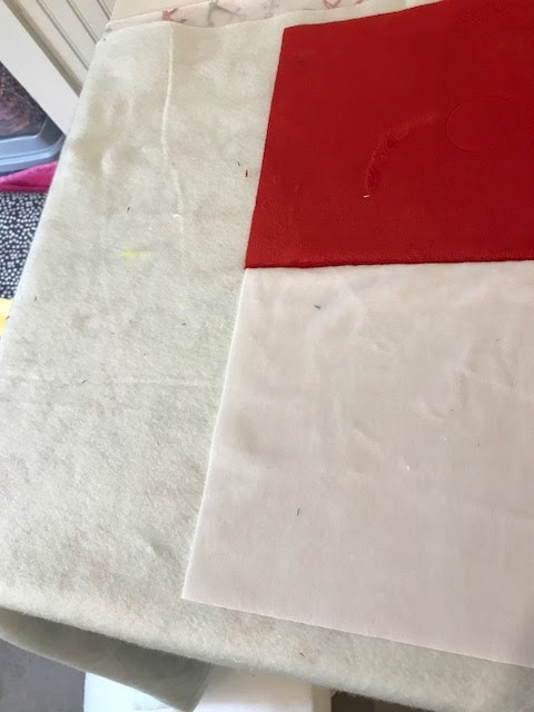 Starry Cuddle® Flag quilt Step 3