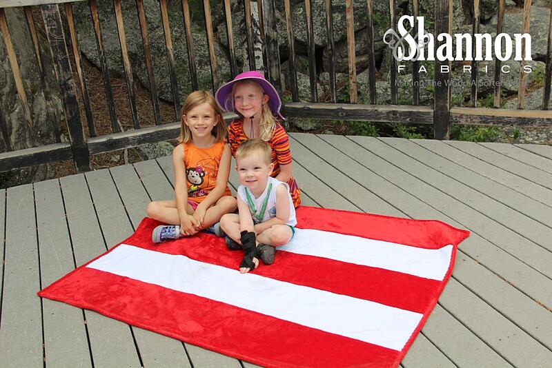 American Flag July 4th Cuddle minky fabric Quilt