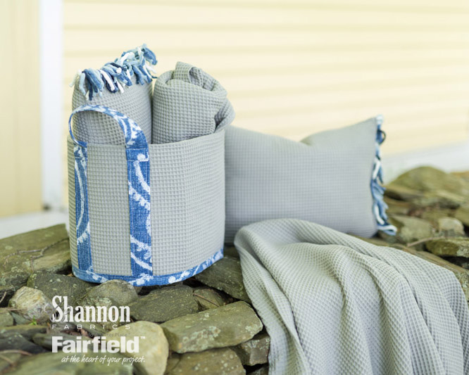 Stitch and go tote and linens
