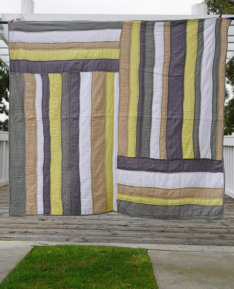 Summer Sunshine Embrace Double Gauze Quilt created by Liberty Worth of Libby Dibby - easy breezy