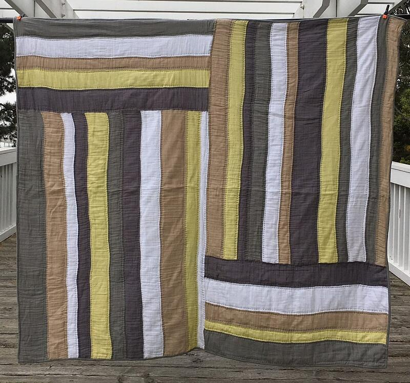 Summer Sunshine Embrace Double Gauze Quilt designed, created and quilted by Libby Dibby