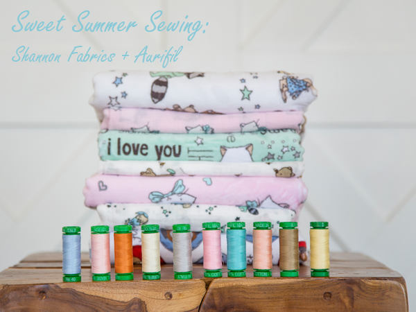 Sweet Summer Sewing Shannon Fabrics and Aurifil
