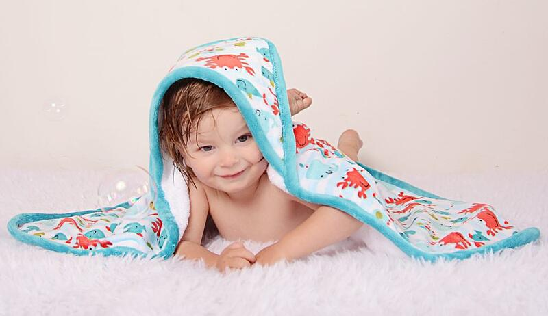 Cuddle and Terry Cloth Hooded Bath Towel and Cuddle Burp Cloth Free Sewing Pattern