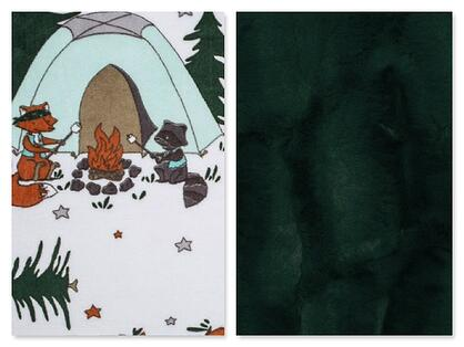 Krittercamp fabric sleeping bag