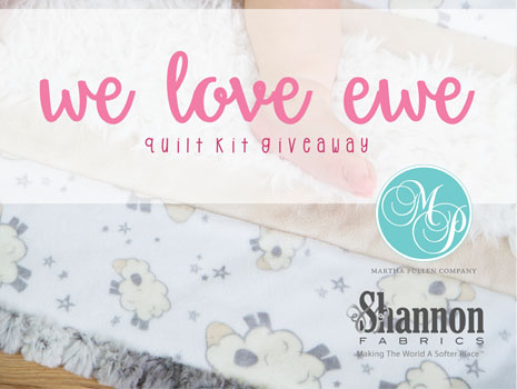 Wee Love Ewe Wee One Cuddle Quilt Kit Giveaway