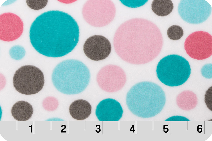 Bubble Dot Cuddle® Hot Pink/Teal