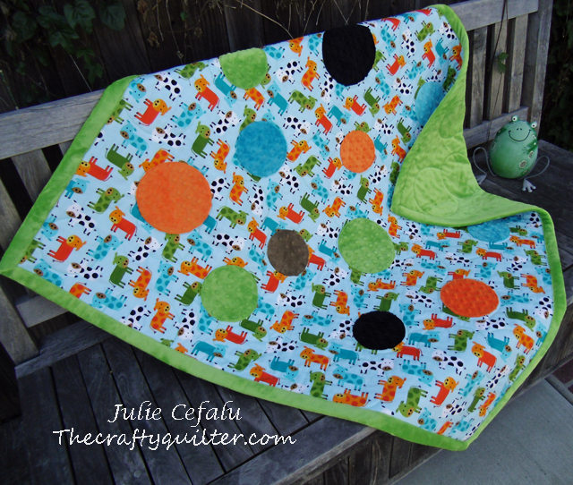 baby quilt tutorial with minky