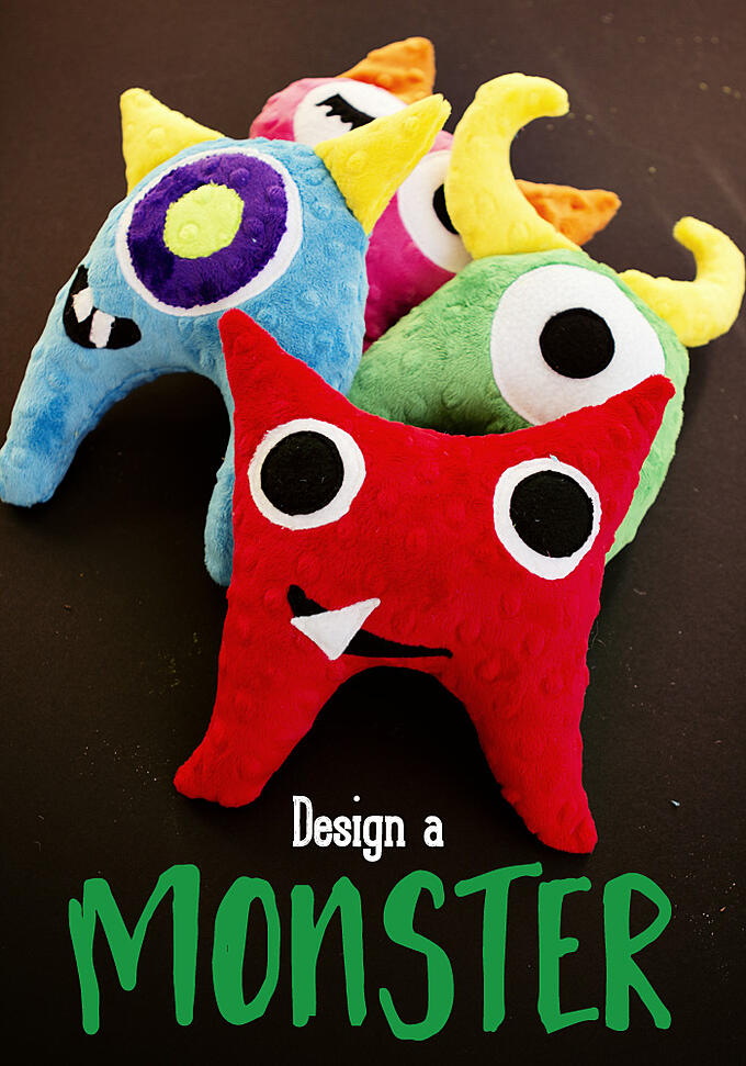 Cuddle Design-a-Monster Softy Toy