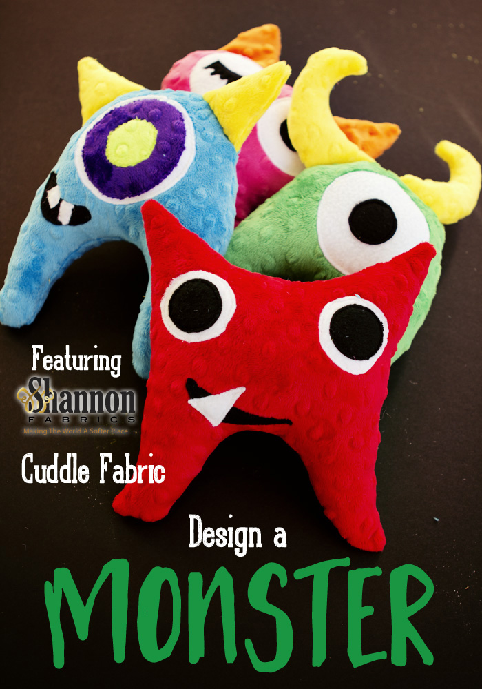Cuddle design a monster softy toy