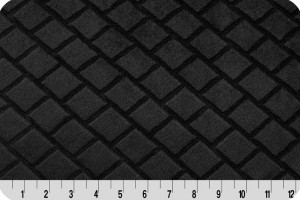 Embossed Diamond Cuddle Black