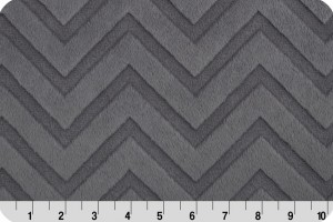 Embossed Chevron Cuddle Charcoal