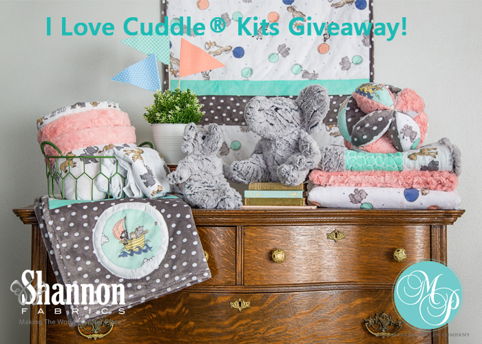 i love cuddle kits image with text and white MP logos greenish color text semi bold more centered