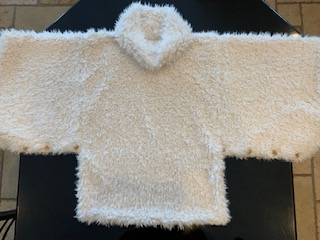 Luxe Cuddle Poncho Flat Lay