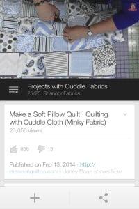 Jenny Cuddle Puffy Rag Quilt