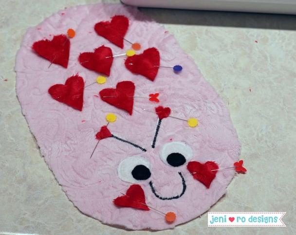 luv bug pinned hearts