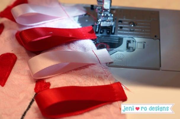 luv bug ribbons basted