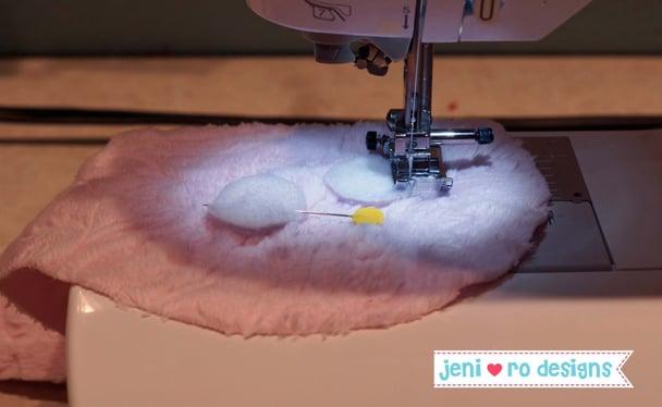 luv bug white circles sew on