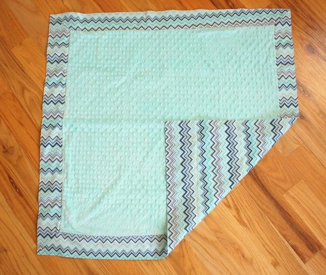mitered corner baby blanket