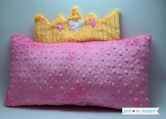 pink princess pillow front