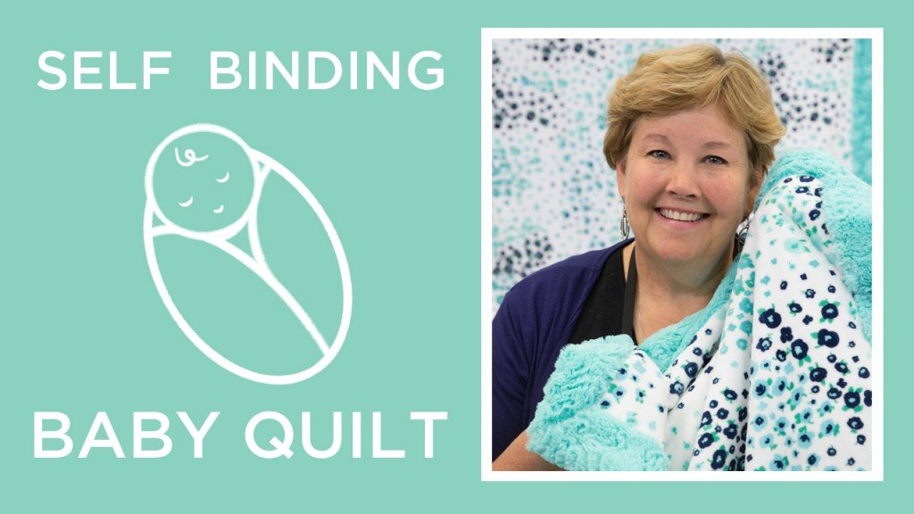 self binding Cuddle fabric baby blanket