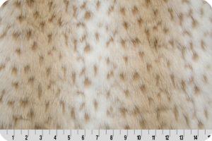 Snow Leopard Faux Fur White/Taupe