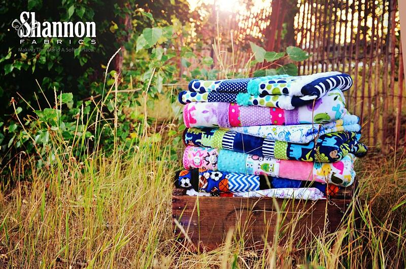 A plush stack of Cuddle® quilts- so soft!