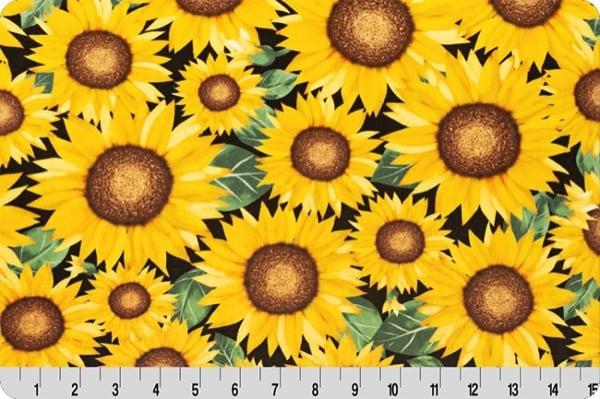 Spring Fabrics_sunflower digital cuddle marigold