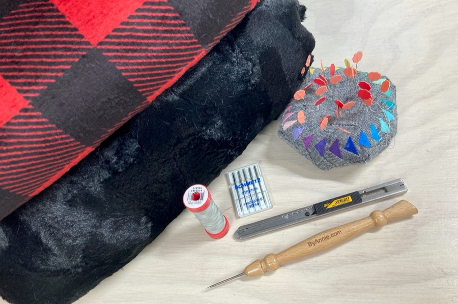 how to sew a throw blanket with binding