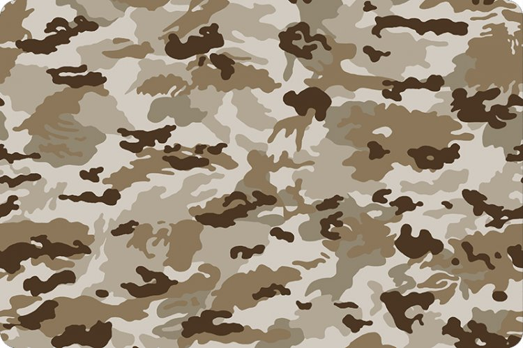 Mini Camo Camouflage  Cuddle® Minky Fabric