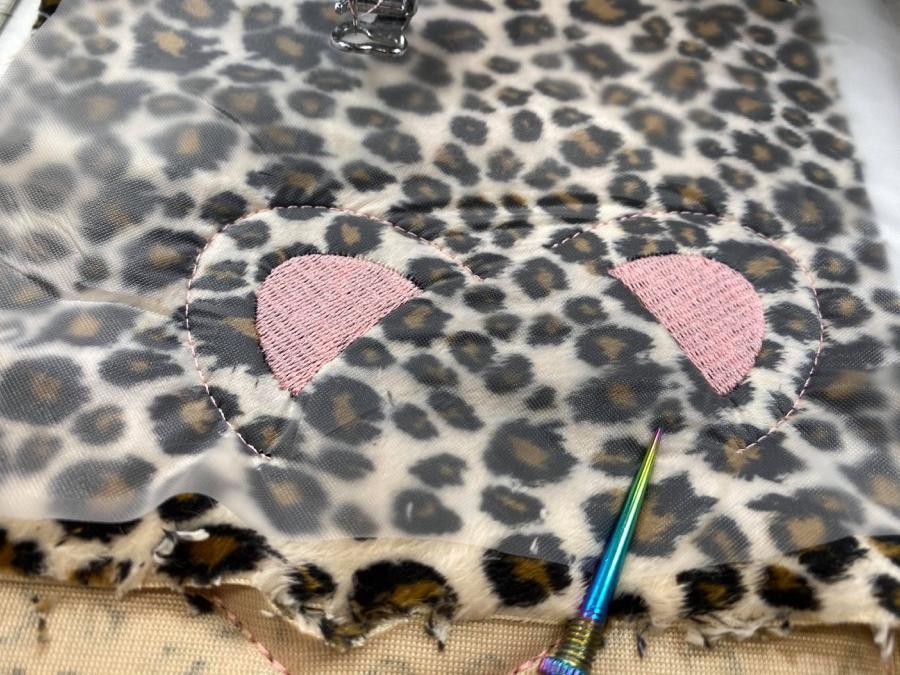 How to Sew and Embroider a Stuffed Animal Peekaboo Cheetah