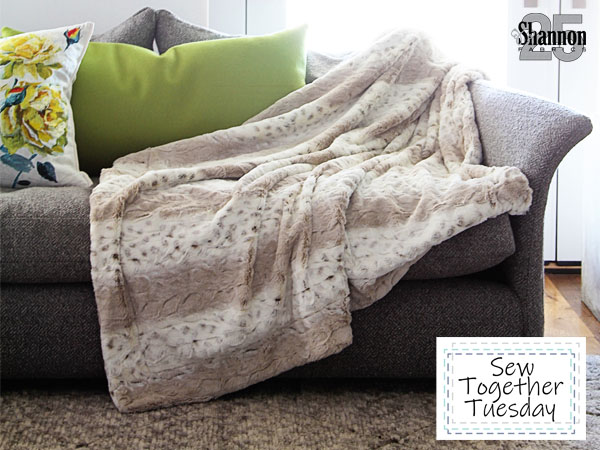 how to sew a throw blanket & free throw blanket pattern