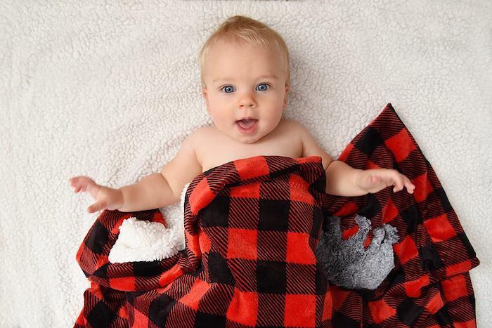 Minky Plush Fabric Self-Binding Baby Blanket Pattern