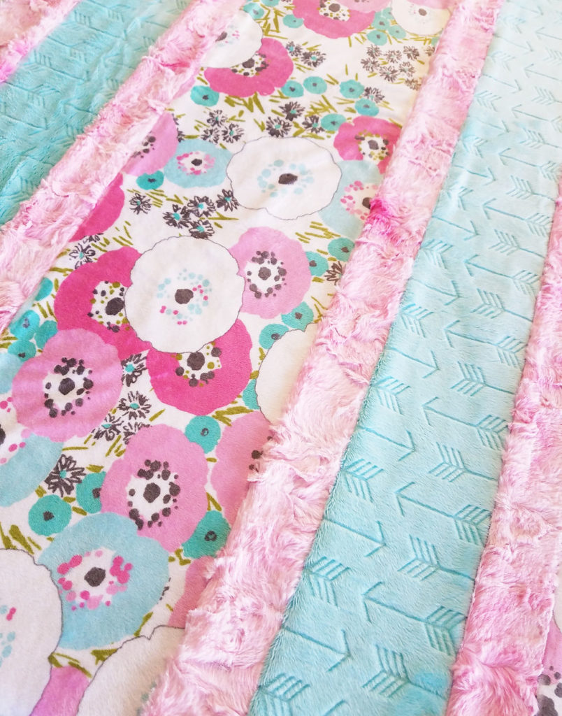 minky fabric quilt strips