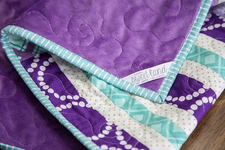 Minky plush fabric quilt
