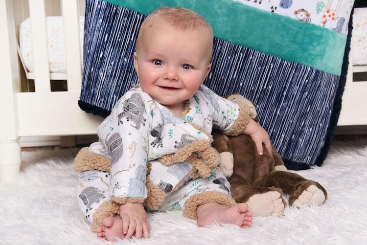 Minky plush fabric baby-friendly