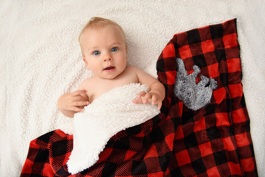 Campers Baby Blanket Plaid Baby Blanket /& Burp Cloths