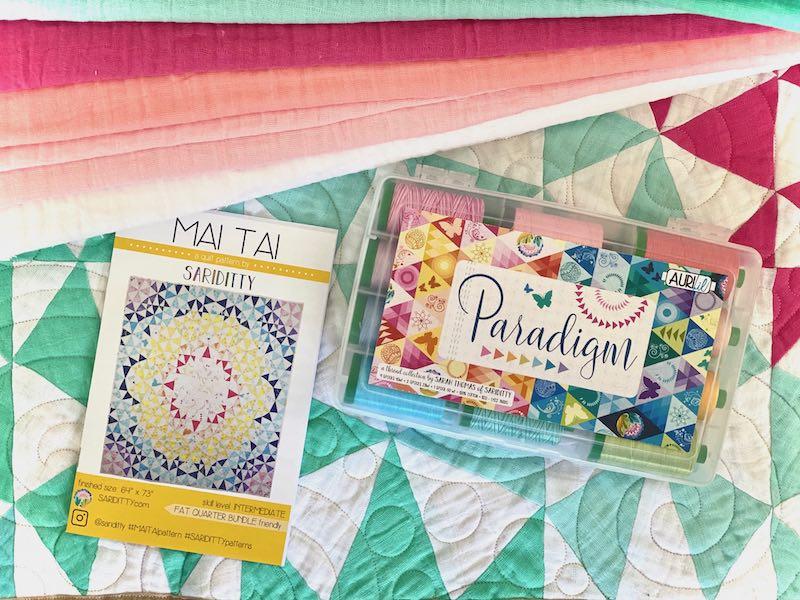 Mai Tai Giveaway: Sariditty X Aurifil X Shannon Fabrics