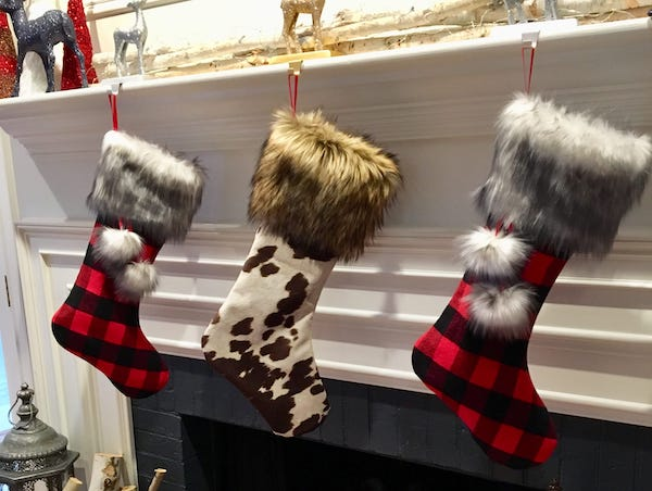 Flannel and Faux Fur Christmas Stocking Pattern