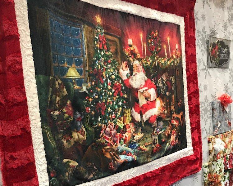 holiday and christmas minky plush fabric
