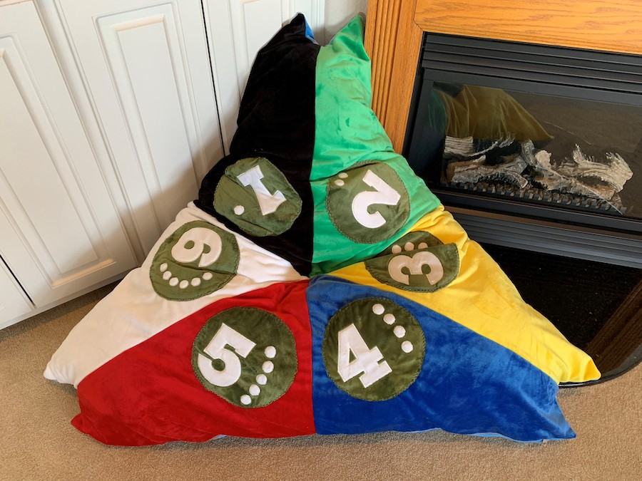 how to sew a floor pillow